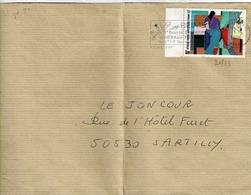 TP  N° 2413 Seul Sur Enveloppe De Reims - Postmark Collection (Covers)