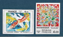 France Timbres De 1981  N° 2168/69  Non Denteles Neuf **gomme Parfaite Cote 160€ - Francia