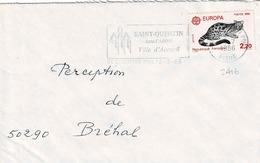 TP  N° 2416 Seul Sur Enveloppe De St Quentin - Marcophilie (Lettres)
