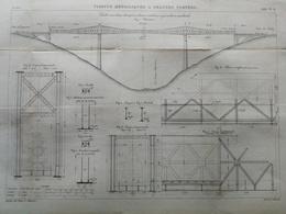 ANNALES DES PONTS Et CHAUSSEES  - Viaducs Métalliques A Grande Portées - Gravé Par Macquet - 1886 (CLD14) - Travaux Publics