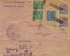 1916- REG. Cover From HABANA To Lavaur ( France )  Fr. 13 Centavos - Cuba