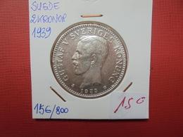 SUEDE 2 KRONER 1939 ARGENT BELLE QUALITE ! - Suède