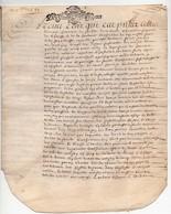 Acte Notarial Notaire Manuscrit Sur Parchemin Cachet Généralité D'Orléans Dix Sols De Roole 1689 17ème 4 Pages - Seals Of Generality