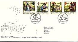 GREAT BRITAIN - FDC THE CIVIL WAR 1642-51 -  EDINBURGH 16.6.1992 /1 - 1991-2000 Decimal Issues