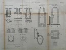 ANNALES DES PONTS Et CHAUSSEES (Allemagne) - Assainissement De Berlin - Gravé Par Macquet - 1886 (CLD18) - Machines