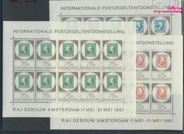 Niederlande 880Klb-882Klb Kleinbogen (kompl.Ausg.) Postfrisch 1967 AMPHILEX 67 (9305237 - 1949-1980 (Juliana)