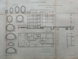 ANNALES DES PONTS Et CHAUSSEES (Allemagne) - Assainissement De Berlin - Gravé Par Macquet - 1886 (CLD19) - Máquinas