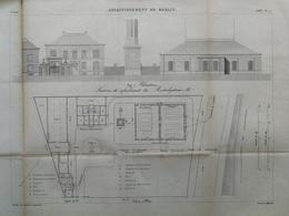 ANNALES DES PONTS Et CHAUSSEES (Allemagne) - Assainissement De Berlin - Gravé Par Macquet - 1886 (CLD20) - Architecture