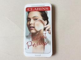 Double Carte Maquillage Clarins Avec échantillon - Cartas Perfumadas