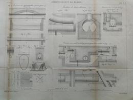 ANNALES DES PONTS Et CHAUSSEES (Allemagne) - Assainissement De Berlin - Gravé Par Macquet - 1886 (CLD21 - Travaux Publics