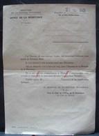 DH. 104. Office De La Résistance , Résistance Armé. Document De Demande D'une Médaille - Documents