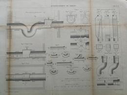 ANNALES DES PONTS Et CHAUSSEES (Allemagne) - Assainissement De Berlin - Gravé Par Macquet - 1886 (CLD22) - Architecture
