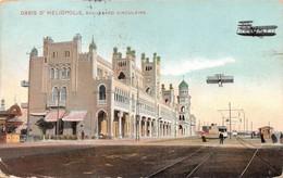 "M07978 ""OASIS D'HELIOPOLIS-BOULEVARD CIRCULAIRE"" ANIMATA-TRAMWAY-BIPLANICARTOLINA POSTALE ORIGINALE  SPEDITA 1899 - Cairo"