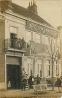 "HAZEBROUCK Devanture Du Magasin GOBRECHT DUCROQUET   ""peinture De Voitures"" - Carte Photo - - Hazebrouck"