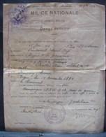 DH. 102. Document De Congé Définitif Pour Le Soldat René Bastin Régiment De Grenadiers Décoré De La Croix De Guerre - Documents