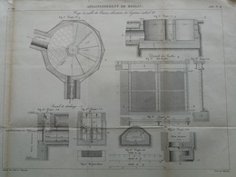 ANNALES DES PONTS Et CHAUSSEES (Allemagne) - Assainissement De Berlin - Gravé Par Macquet - 1886 (CLD24) - Travaux Publics