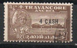 Ref: 371. Travancore. 1943. Stamp Tipe 1941 Sucharged. Scott Nº 46 - Travancore