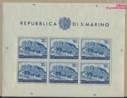 San Marino 439C Klb Kleinbogen (kompl.Ausg.) Postfrisch 1950 75Jahre UPU (9305285 - San Marino