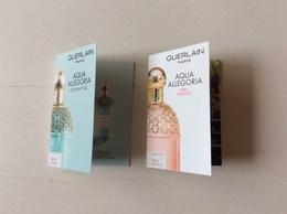2 échantillons ACQUA Allegoria - Cartas Perfumadas