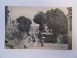 Beg-Meil N°5 - Chemin Conduisant à La Cale - Carte Animée, Non-circulée - Beg Meil