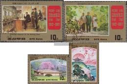 North-Korea 2833-2836 (complete Issue) Fine Used / Cancelled 1987 Kim II Sung: Paintings - Korea, North