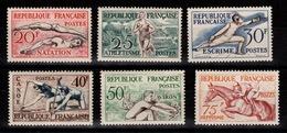 Serie Hippisme 1953 YV 960 à 965 N** MNH Cote 90 Euros - Francia