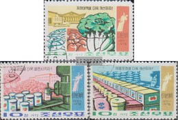 North-Korea 1139-1141 (complete Issue) Fine Used / Cancelled 1972 Food Industry - Korea, North