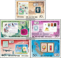 North-Korea 1991A-1995A (complete Issue) Unmounted Mint / Never Hinged 1980 Boarding. Stamp Exhibition - Korea, North