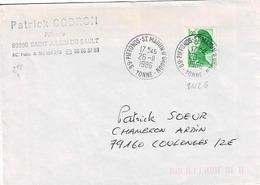 TP  N° 2426 Seul Sur Enveloppe De Piffons-St Martin D'Oron - Postmark Collection (Covers)