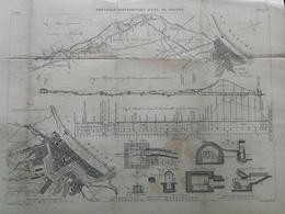 ANNALES DES PONTS Et CHAUSSEES (Dep 76) - Nouvelle Distribution D 'eau De Dieppe - Gravé Par E.Pérot - 1884 (CLD25) - Travaux Publics