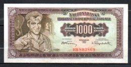 622-Yougouslavie Billet De 1000 Dinara 1955 HB803 Planche 2 Sup RARE - Yougoslavie