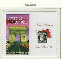 """FR Personnalisés YT 3599B """" Arc De Triomphe, Adhésif """" 2007 Neuf** - Personnalisés"""