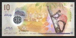 622-Maldives Billet De 10 Rufiyaa 2015 B148 Neuf - Maldiven