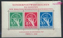 Berlin (West) Block1II (kompl.Ausg.) Geprüft, C Gebrochen Und Zusätzliche Schraffur Postfrisch 1949 Währung (9305203 - Berlin (West)