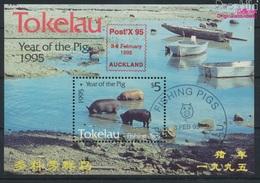 Tokelau Block4I (kompl.Ausg.) Gestempelt 1995 Chinesisches Neujahr - Auckland (9305105 - Tokelau