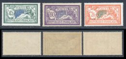 France 1907 Yvert 143 / 145 ** TB - 1900-27 Merson