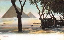 "M07981 ""PYRAMIDS"" TRAMWAY-CARTOLINA POSTALE ORIGINALE SPEDITA FINE'800-PRIMISSIMI '900 - Piramidi"