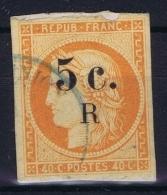 Reunion : Yv Nr 6a Orange Vif  Used Obl - Réunion (1852-1975)