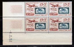 Maroc PA 1952 Yvert 84 ** TB Coin Date - Airmail