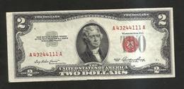 U.S.A. - United States Of America - 2 DOLLARS  - ( SERIES 1953 ) RED SEAL - Billets De La Federal Reserve (1928-...)