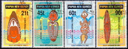 PAPUA NEW GUINEA 1992 SG #667-70 Compl.set. Used Papuan Gulf Artifacts - Papua New Guinea
