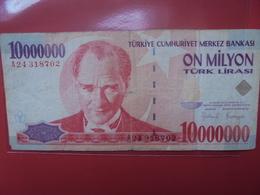 TURQUIE 10.000.000 LIRASI 1970(1999) CIRCULER - Turchia