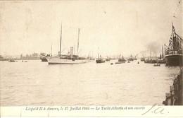 ANVERS  ---  Léopold II à Anvers, Le 27 Juillet 1905 -   Le Yacht Alberta Et Son Escorte - Antwerpen