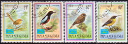 """PAPUA NEW GUINEA 1993 SG #687-90 Compl.set. Used Small Birds Set Optd """"Taipei '93"""" - Papouasie-Nouvelle-Guinée"""