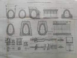 ANNALES DES PONTS Et CHAUSSEES (Dep 76) - Nouvelle Distribution D 'eau De Dieppe - Gravé Par E.Pérot - 1884 (CLD26) - Travaux Publics