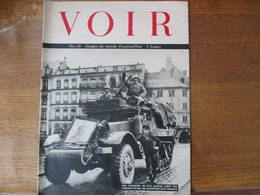 VOIR N°18 IMAGES DU MONDE D'AUJOURD'HUI DANS STRASBOURG UN PETIT ALSACIEN LIBERE POSE DEVANT UNE AUTOMITRAILLEUSE FRANCA - Revues & Journaux