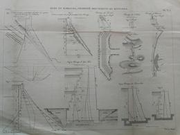 ANNALES DES PONTS Et CHAUSSEES - Murs Et Barrages Stabilité Mouvements Et Ruptures - Gravé Par Macquet - 1887 (CLD27) - Travaux Publics