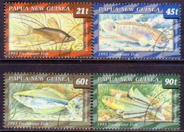 PAPUA NEW GUINEA 1993 SG #691-94 Compl.set. Used Freshwater Fishes - Papua New Guinea