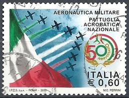 Italia, 2010 Pattuglia Acrobatica Nazionale, 0.60 € # Sassone 3191 - Michel 3401 - Scott 3020  USATO - 6. 1946-.. Repubblica