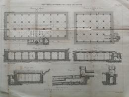 ANNALES DES PONTS Et CHAUSSEES (Dep 76) - Nouvelle Distribution D 'eau De Dieppe - Gravé Par E.Pérot - 1884 (CLD29) - Travaux Publics